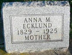 Anna Maria <I>Eriksson</I> Ecklund