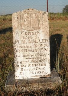 Mary Melisa Fornia <I>Huggins</I> Miller