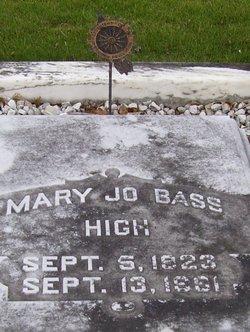 """Mary Josephine """"Mary Jo"""" <I>Bass</I> High"""