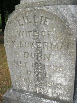 """Lydia Kennedy """"Lillie"""" <I>Robertson</I> Ackerman"""