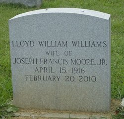 Lloyd <I>Williams</I> Moore