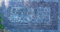 Leona <I>Leavitt</I> Arbon