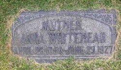 Anna <I>Hutchinson</I> Whitehead