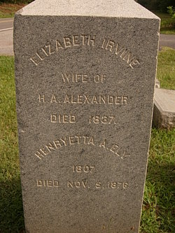Elizabeth Cole <I>Irvine</I> Alexander