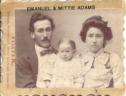 "Mittie Louetta ""Mama Adams"" <I>Chilcoat</I> Adams"