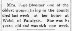 Jane <I>Payne</I> Bloomer