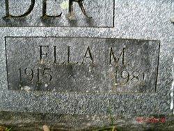 Ella M <I>Cole</I> Alexander