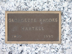 Georgette <I>Rhodes</I> Hartell