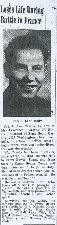 PFC Lawrence L Cassity