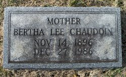 Bertha Lee <I>Jaggers</I> Chaudoin