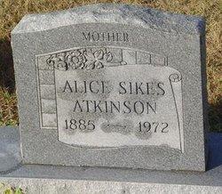 Alice <I>Sikes</I> Atkinson