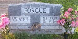 Mary Virginia <I>Schaff</I> Forgue
