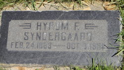 Hyrum F Syndergaard