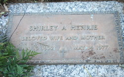 Shirley A <I>Cordoza</I> Henrie