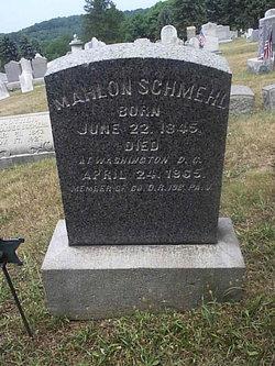 Pvt Mahlon Schmehl