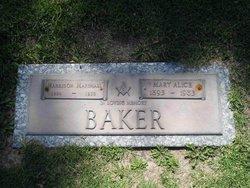 Mary Alice <I>Carter</I> Baker