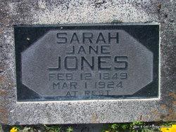 Sarah Jane <I>Cooper</I> Jones