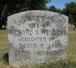 Janet M. <I>Hoskins</I> Wellons