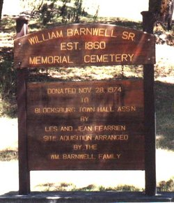 William Barnwell Sr Memorial Cemetery
