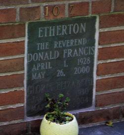 Rev Donald Francis Etherton