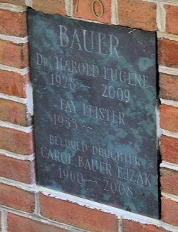 Dr Harold Eugene Bauer