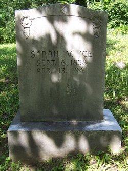 Sarah Virginia <I>Glenn</I> Ice