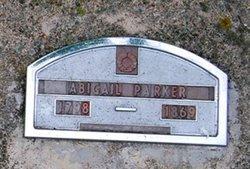 Abigail <I>Mitchell</I> Parker