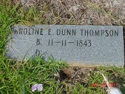 Caroline E <I>Dunn</I> Thompson