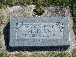 Abbie Claudina <I>Carter</I> Madsen