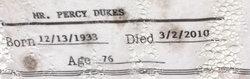 Percy Dukes
