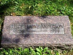 Alice Elaine <I>Albrecht</I> Anderson