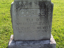 "Sarah Elizabeth ""Elizabeth"" <I>Cox</I> Coble"