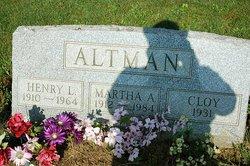 Martha Althea <I>Meyer</I> Altman