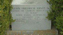 John Friedrich Ernst, Sr