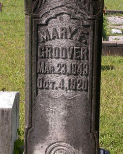 Mary Frances <I>Franklin</I> Groover