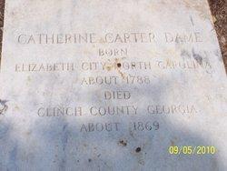 Catherine <I>Carter</I> Dame