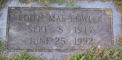Edith Mae <I>Roop</I> Fowler