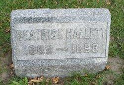 Beatrice <I>Peacock</I> Hallett