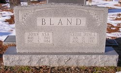 Crissie Irene <I>Lilley</I> Bland