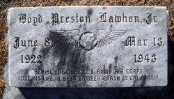 Sgt Boyd Preston Lawhon, Jr