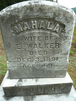 Mahala <I>Spaulding</I> Walker