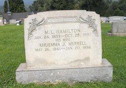 Rhuemma Jane <I>Merrell</I> Hamilton