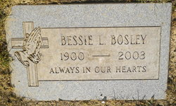 Bessie L <I>Ivey</I> Bosley