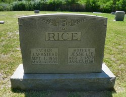 Jessie Lee <I>Harrell</I> Rice