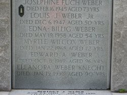 Eleanora <I>Weber</I> Knecht
