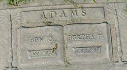 Bertha E <I>Dorman</I> Adams
