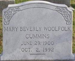 Mary Beverly <I>Woolfolk</I> Cummins
