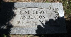 June A. <I>Olson</I> Anderson