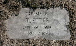 Cressie Beatrice <I>Poynter</I> McEntire