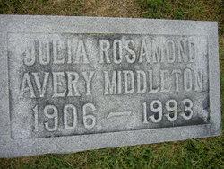 Julia Rosamond <I>Avery</I> Middleton